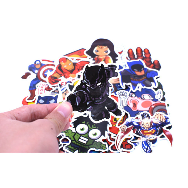 50pcs/set Super Hero Stickers For Computer PS4 Pad Phone Laptop TV Fridge Bicycle Waterproof DIY Decal Sticker