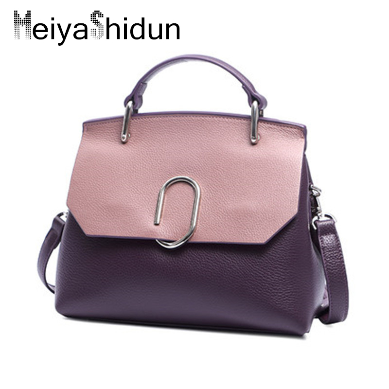 где купить Luxury handbags women bags Genuine Leather handbag women Messenger Bag designer Cover Shoulder Bags Tote bolsos mujer sac a main дешево