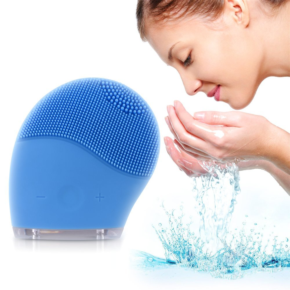 Makeup Facial Cleansing Brush and Face Massager Silicone Sonic Vibrating Rechargeable Electric Waterproof Cleansing Skin Care electric face massager remove blackhead waterproof deep cleansing brush silicone face cleanser facial cleansing instrument