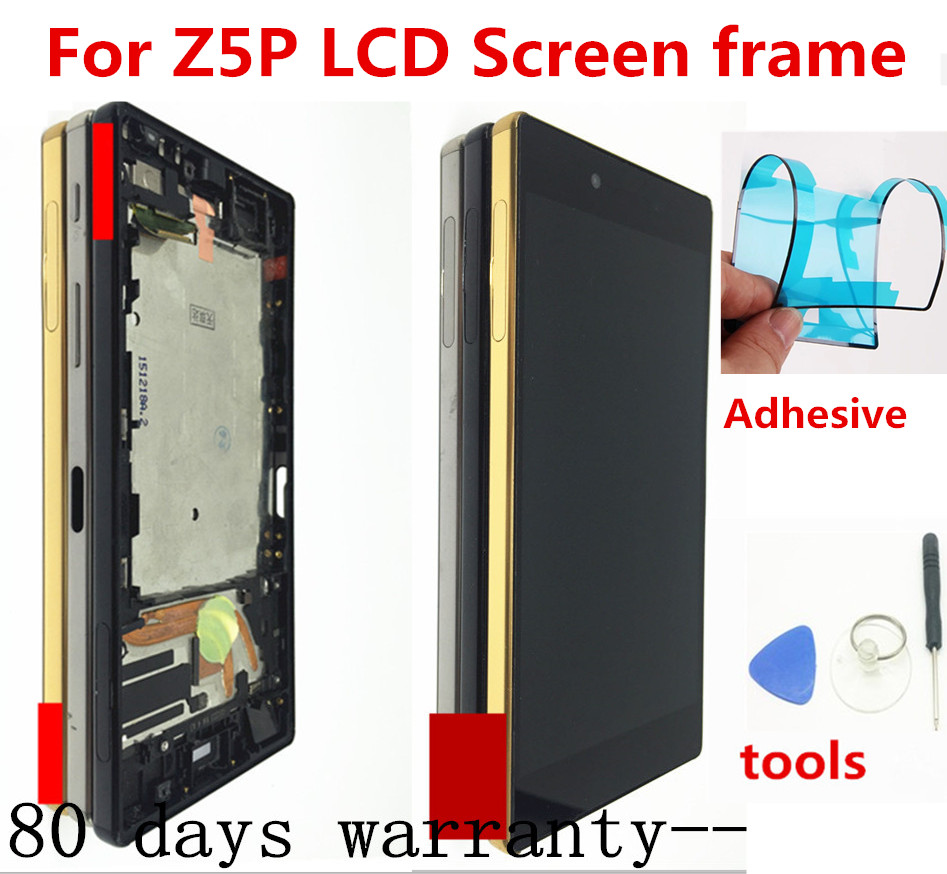 100% Original For Sony Xperia Z5 Premium E6853 E6883 E6833 LCD Display With Touch Screen Digitizer Assembly With Button Frame