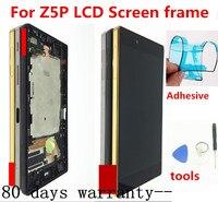 100% original para sony xperia z5 premium e6853 e6883 e6833 display lcd com tela de toque digitador assembléia com quadro botão
