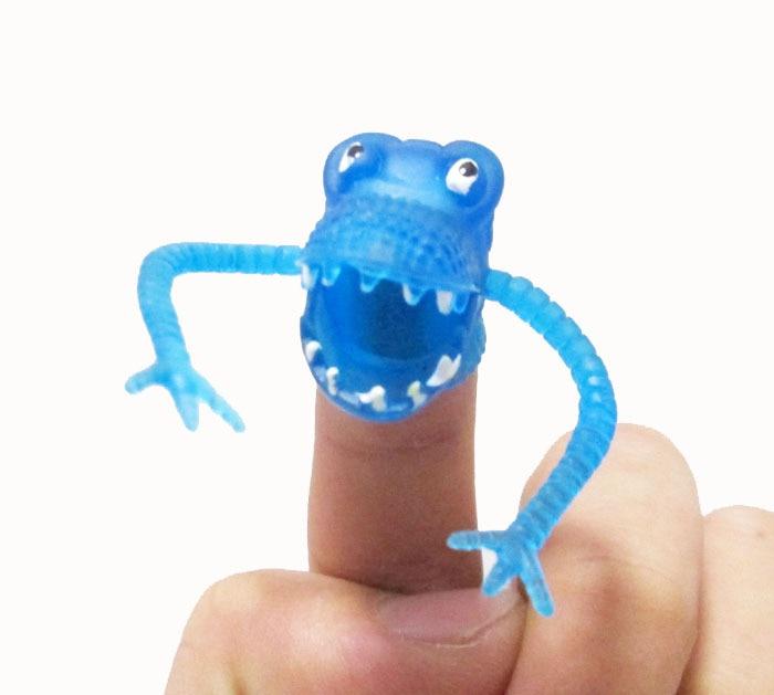 Novelty Dinosaurus Plastik Fingers Fingers Tacit Story Mini Dinosaur - Boneka dan mainan lunak - Foto 5