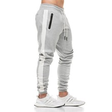 Autumn new mens cotton Sweatpants gyms Fitness workout slim solid trousers male Casual fashion Pencil Pants Joggers sportswear