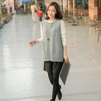 NEW Spring Korean Version Of Knitted Cashmere Sweater Vest Waistcoat Female Hedging Loose Knit Sleeveless Vest