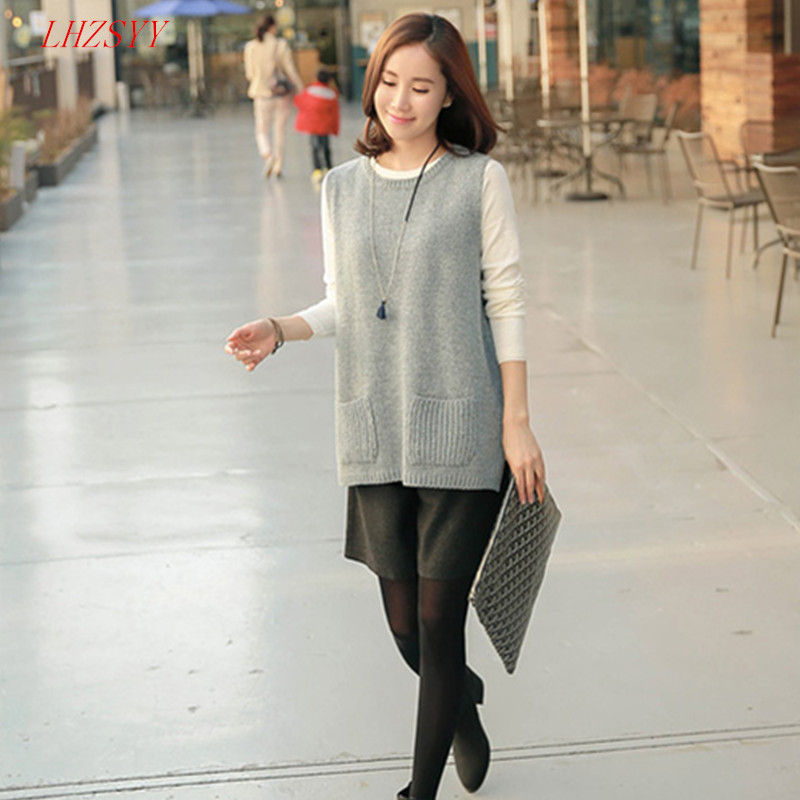 NEW Spring Korean version of knitted Cashmere Sweater Vest waistcoat - Women's Clothing