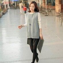 Новая весна корейской версии трикотажные кашемировый свитер жилетки женский хеджирование широкий вязать майка куртка