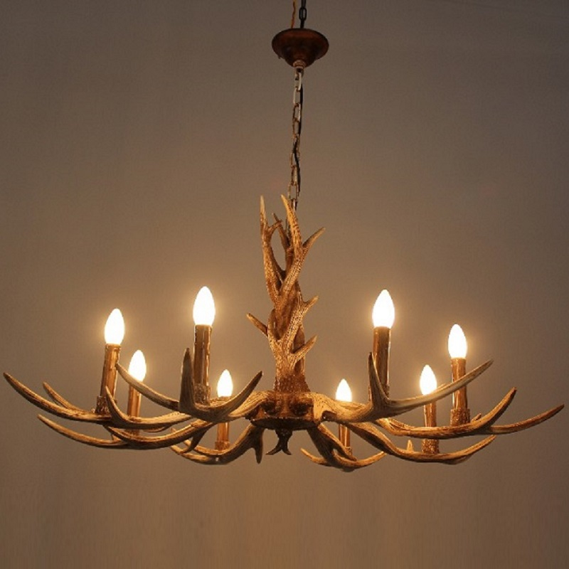 6 or 8 heads candle antler chandelier american retro resin deer horn 6 or 8 heads candle antler chandelier american retro resin deer horn lamps home decoration lighting e14 110 240v in chandeliers from lights lighting on aloadofball Images