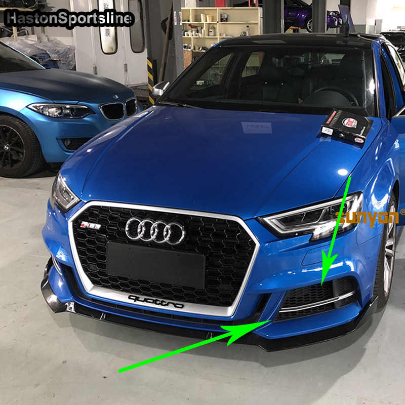 S3 Black Front Fog Light Cover Grill Trim For Audi S3 Only 2016-2019
