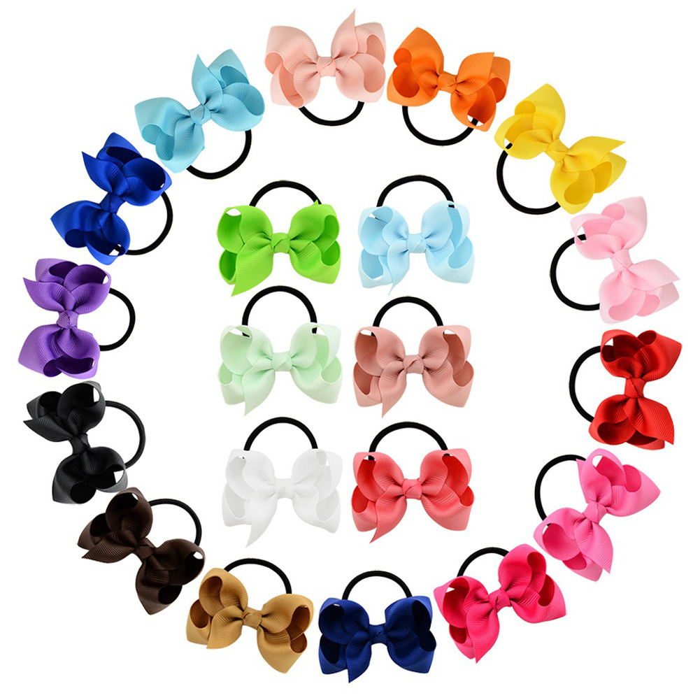 Apparel Accessories Girl's Accessories Helpful 1pcs Fashion Kids Baby Female Solid Color Bow Hair Rope Rubber Band Girl Apron Rubber Band Tiara Hair Accessories Hair Ring Selected Material
