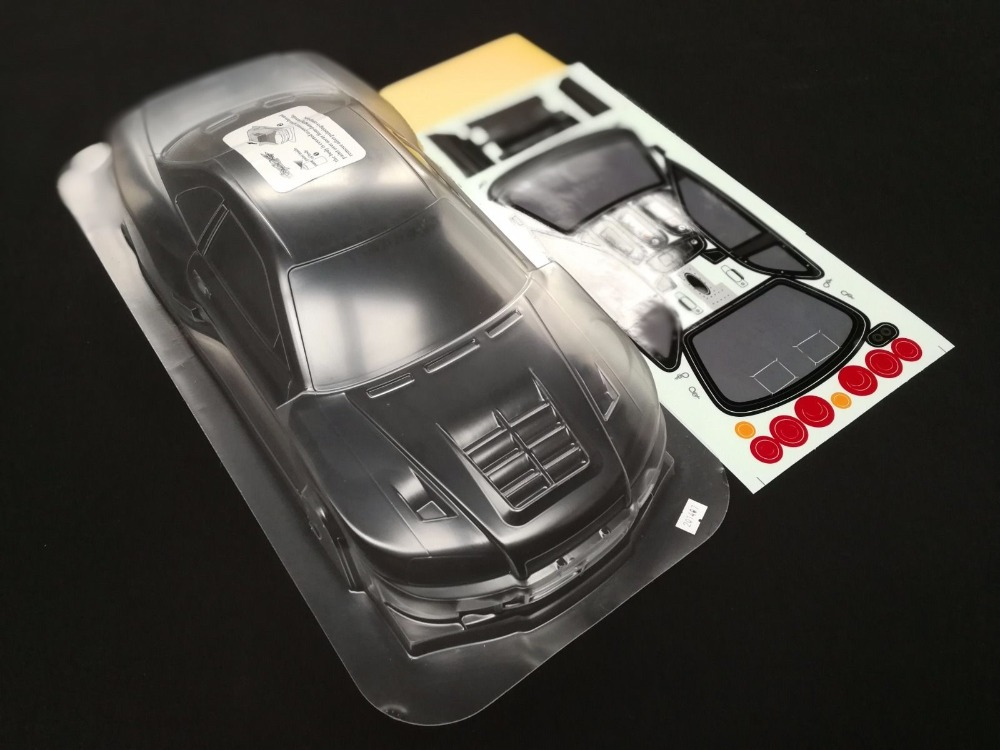 US $65 0 |1/10 RC Car 190mm Lexan Clear Body Shell NNissan GTR R34 XANAVI  NIISMO Wide Body with decals/wings/Rear view mirror holders HPI-in Parts &