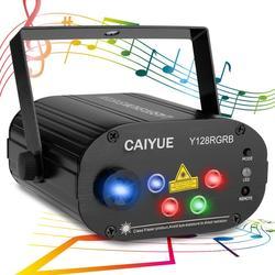Dj luz do estágio laser 128rgb padrões projetor 3 w azul led efeito de palco iluminação para discoteca luz natal festa feriado