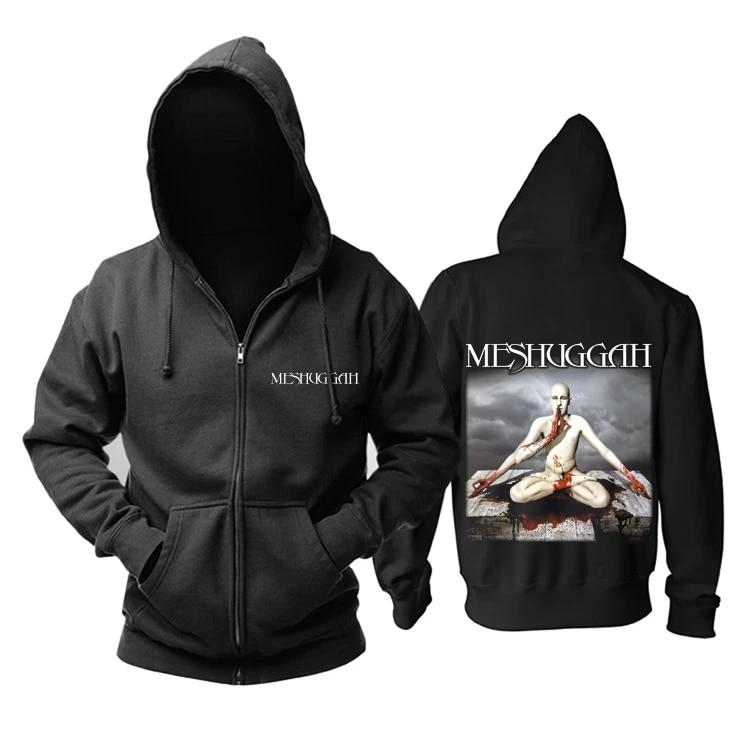 16 disegni felpa con cerniera sciamano monaco serpente Meshuggah Rock felpe con cappuccio giacca Punk nero Heavy Metal felpa uomo pile