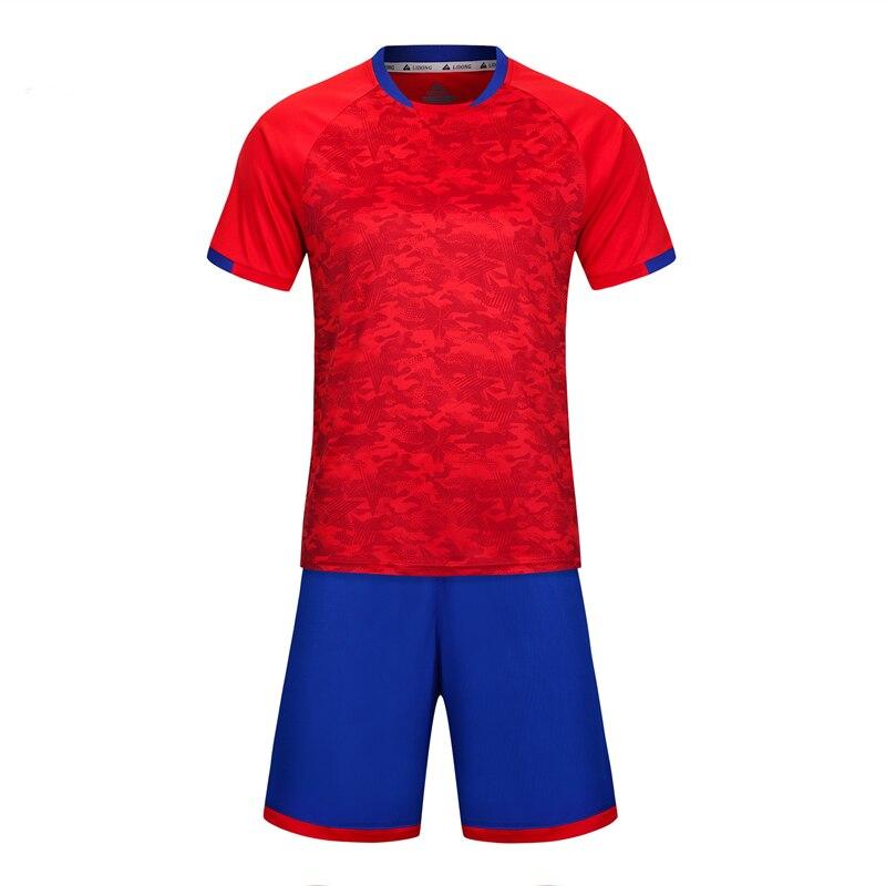 Kids Soccer Sets Boys Girls Team Sport Kit Child Football Jerseys Uniforms  Shirts Tracksuits Breathable Print b79030ec9