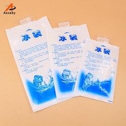 10 pces saco térmico plástico reusável para armazenamento de alimentos gelo gel pacotes cubos saco refrigerador frio físico bolsa termica-30