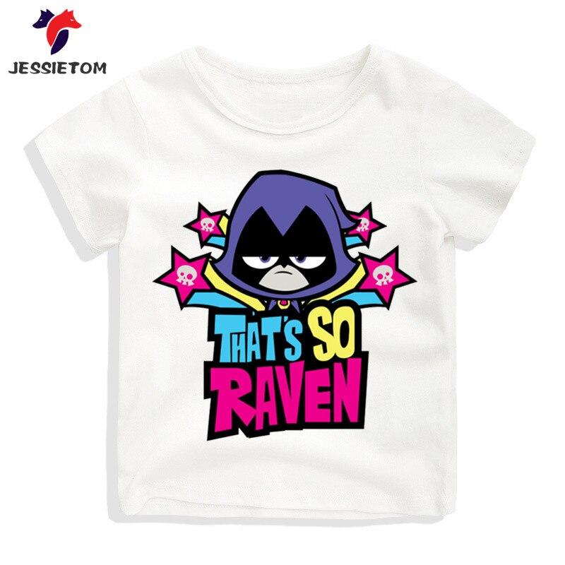Boy and Girl Cartoon Movie Teen Titans Go Tshirt Kid Summer Soft Kawaii Top Tee Children Funny Clothes Baby Camisetas