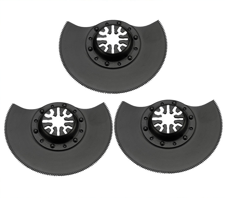 3 PCS HSS 88mm flush segment Oscillating Tool Saw Blades Accessories fit for Multimaster power tools as Fein, TCH,Dremel etc loranto cs 900a hi black