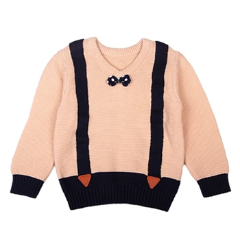 Cute Sweater Imitation Strap Cartoon Fashion Casual Winter Sweater Warm Sweater Children's Clothing