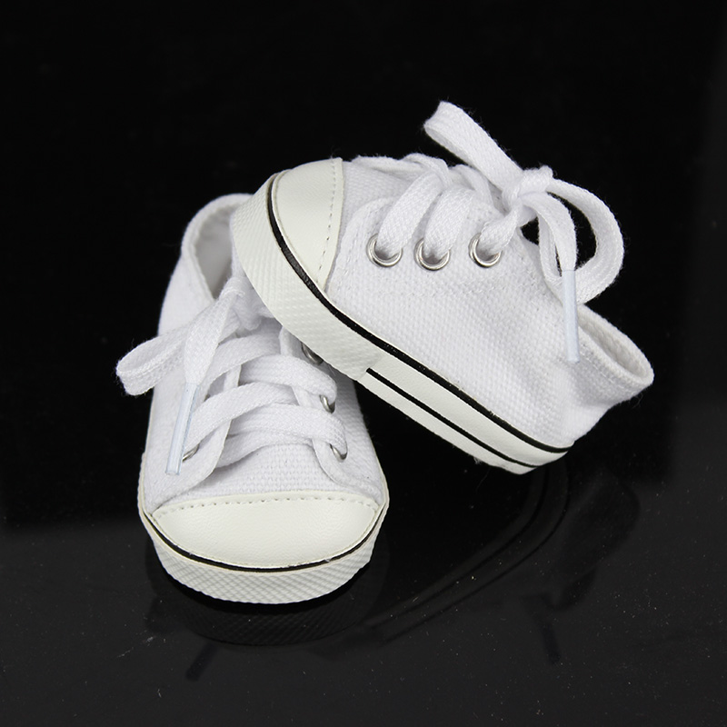 New White Sneaker Fit For 43cm Baby Born Zapf
