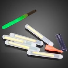 50Pcs 4.5*37mm Multi-Color Fishing Float Fluorescent Lightstick Light Night Float Rod Lights Dark Glow Stick For Fishing/Party