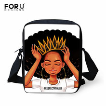 FORUDESIGNS African Traditional Printing Women Messenger Bag Ladies Satchel Children Travel Small Shoulder Mochila Escolar