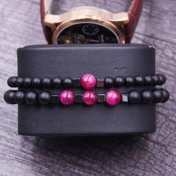Bracelet à distance couple rose