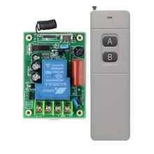 מתג שליטה מרחוק AC220V 30A 3000 M משאבת מים מנוע LED מרחוק בקר ארוך טווח מרחק משדר 3000 W 315 433 MHZ