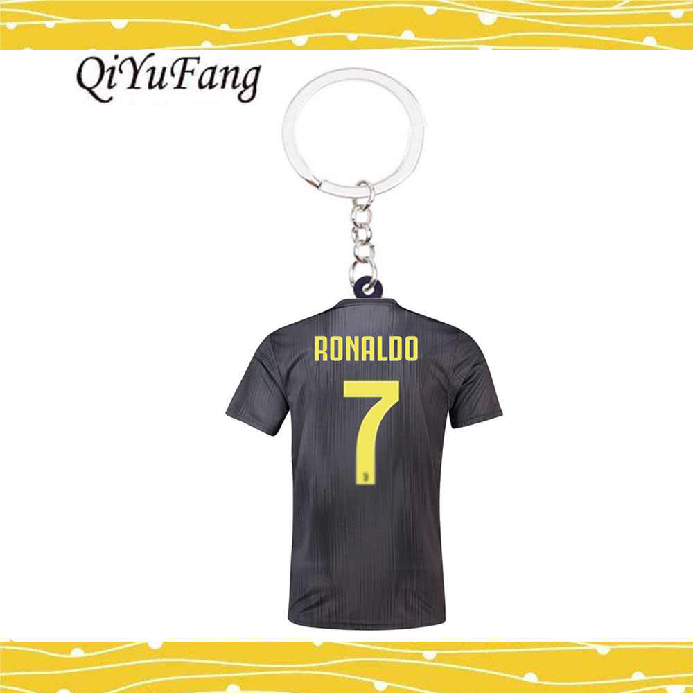 New Season CR7 C.RONALDO Keyring Messi Europe Football Soccer Silver Keychains Mens Football Liverpool Car Key Purse Keychain