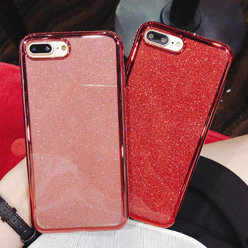 ファッショングリッターパウダー電話ケース Xiaomi Redmi 最大 3 A2 6 × 8 8SE Lite 9 9SE 注 5 プラス 6 6A プロ 7 シリコンカバー