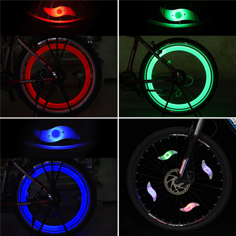 Bike Bicycle Cycling Wheel Spoke Wire Tyre Bright LED Flash Light Lamp