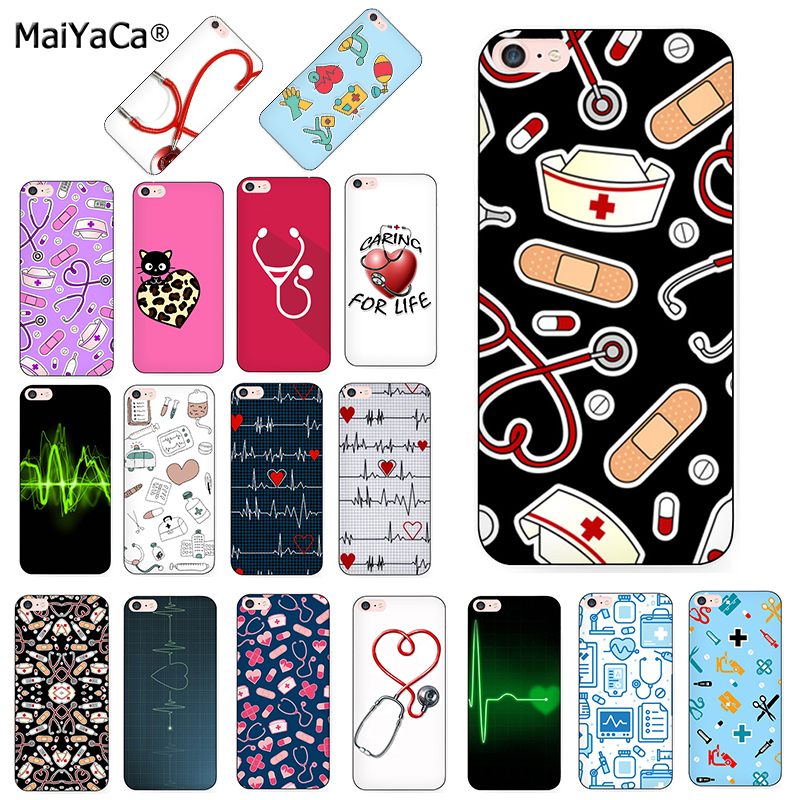 MaiYaCa Nurse Medical Medicine Health Heart black soft Phone Case for iPhone 8 7 6 6S Plus X XS XS MAX 5S SE 11pro max Cover