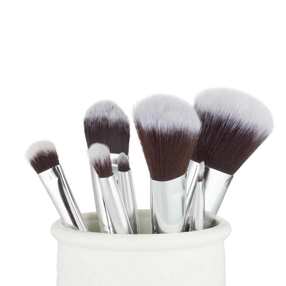 Jessup 7pcs Makeup børster Sæt Blå / Sølv Træ Håndtag Blanding - Makeup - Foto 2