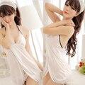 Women Lingerie Lace Bra Sheer Braces Skirt Thongs Nighty Sleepwear Halterneck