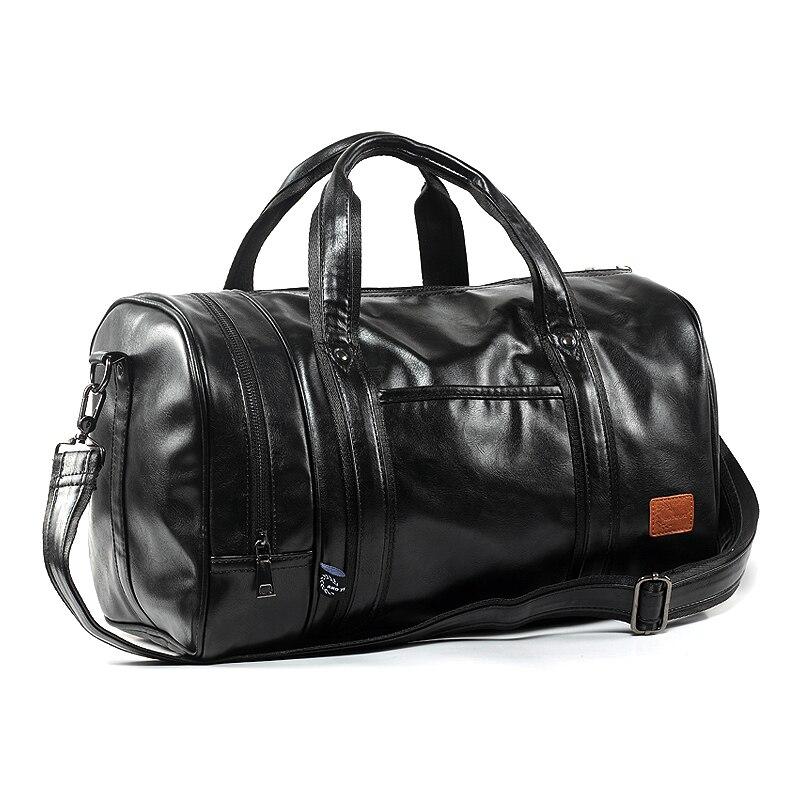 2016 New Arrival Men Bag Pu Leather Men s Travel Bags Casual Duffle Bags Bucket Handbags