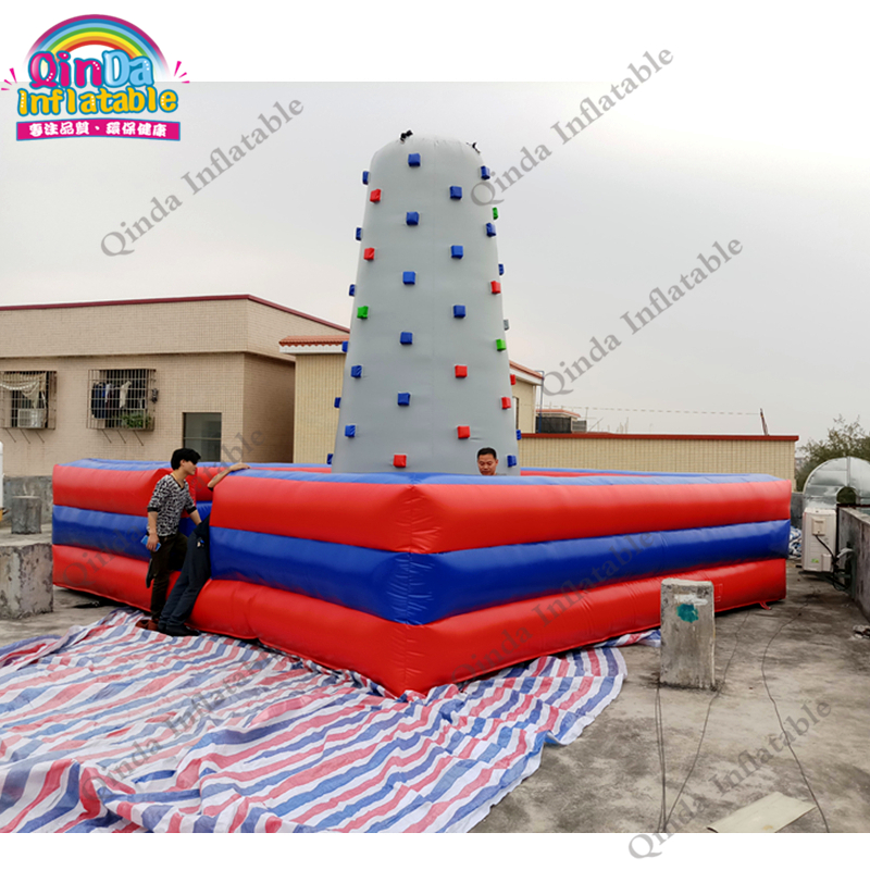 Factory direct sale PVC inflatable rock climbing wall, inflatable games for kids and adults inflatable biggors high quality inflatable climbing town kids toy climbing wall games for rental