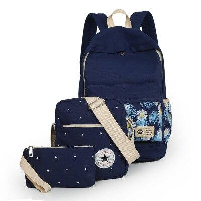 ФОТО 2016 Women Backpack School Bags For Teenagers Girls Rucksack Backpacks Set Mochila Printing Bookbag Cute Canvas