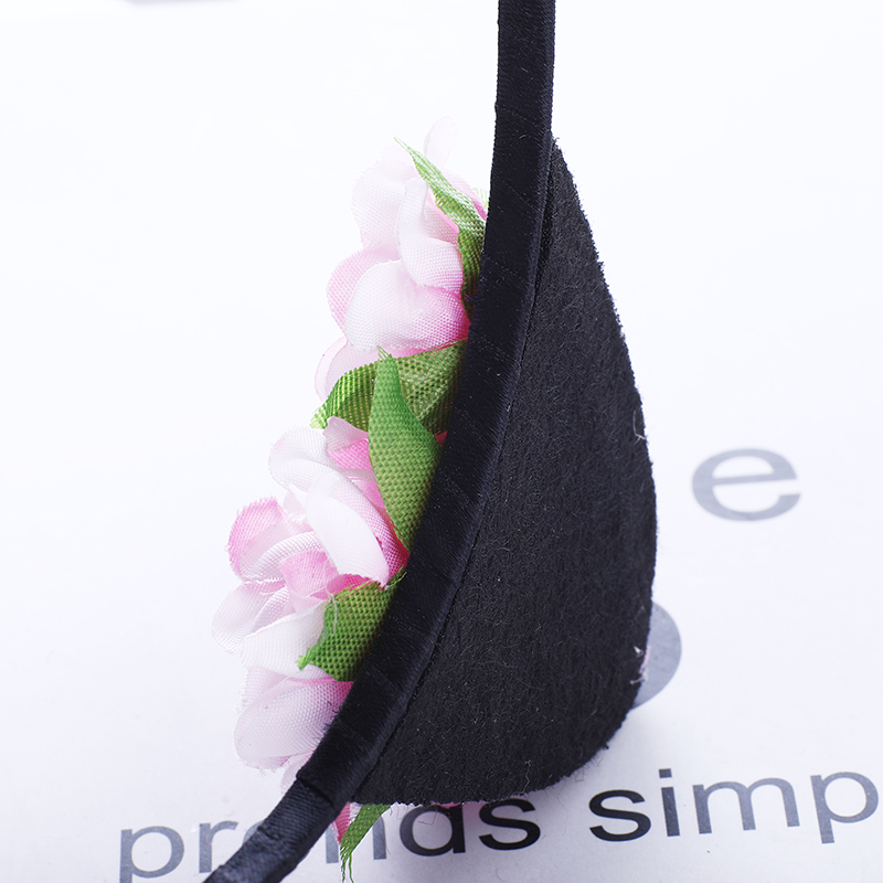 Flower Cat Ears Hairbands Children Spring Headwear Cloth Flower Hair Accessories Boho Style Headbands Hot Sale Women Tiaras