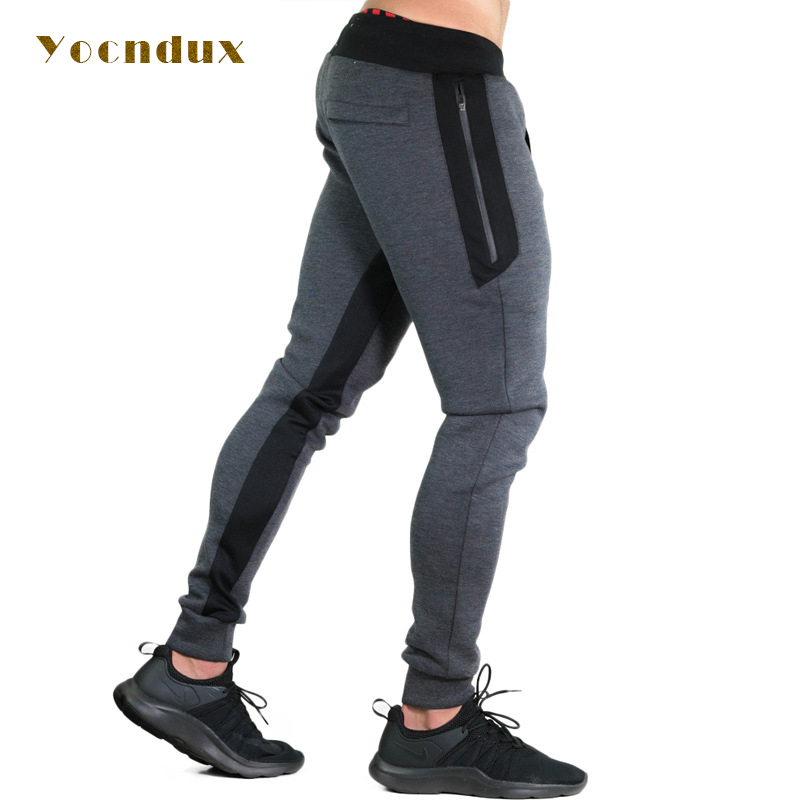 2017 Men Gyms Sports Pants Sports Elastic cotton Mens Fitness Workout Pants skinny,Sweatpants Trousers Jogger Pants large size brand men sports pants male fitness workout active pants sweatpants trousers jogger basketball running pants