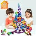 Minitudou regalo para niños 3d diy construcción de ladrillo de juguete juguete 93 unids/lote aprendizaje juguetes educativos ladrillos bloques de construcción magnética