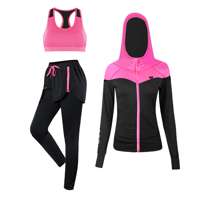 JINXIUSHIRT Sport Suits Women's Fitness Yoga Set Running Sportswear Tights Training Jogging Suit Gym Sports Clothes Set 3 Pics new stretch yoga running suits fitness sports woman gym clothe suit short sleeved jogging femme 3 set clothing for women