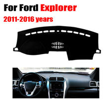 Car dashboard covers mat for Ford Explorer 2011-2016 left hand drives dashmat pad dash covers Instrument platform accessories