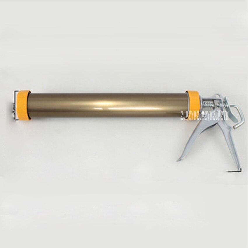 New Deluxe Yellow Bronze Color Soft Glue Gun Aluminum Alloy Glue Gun Labor Saving Rotatable Structure Soft Glass Glue Gun Hot