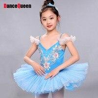 2017 Girl Kids Children Ballet Dance Dress Cropped Tutu Squins 6Colors Ruched Tulle Bubble Skirt Disfraces Dans Kleding Meisjes