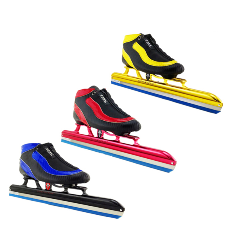 Prix pour D'origine JKHD Patins À Glace Patinage Chaussures avec 7075 Cadre En Aluminium, Patin À Roulettes en ligne Vitesse Glace Lame, Fibre de carbone Fiber De Boot