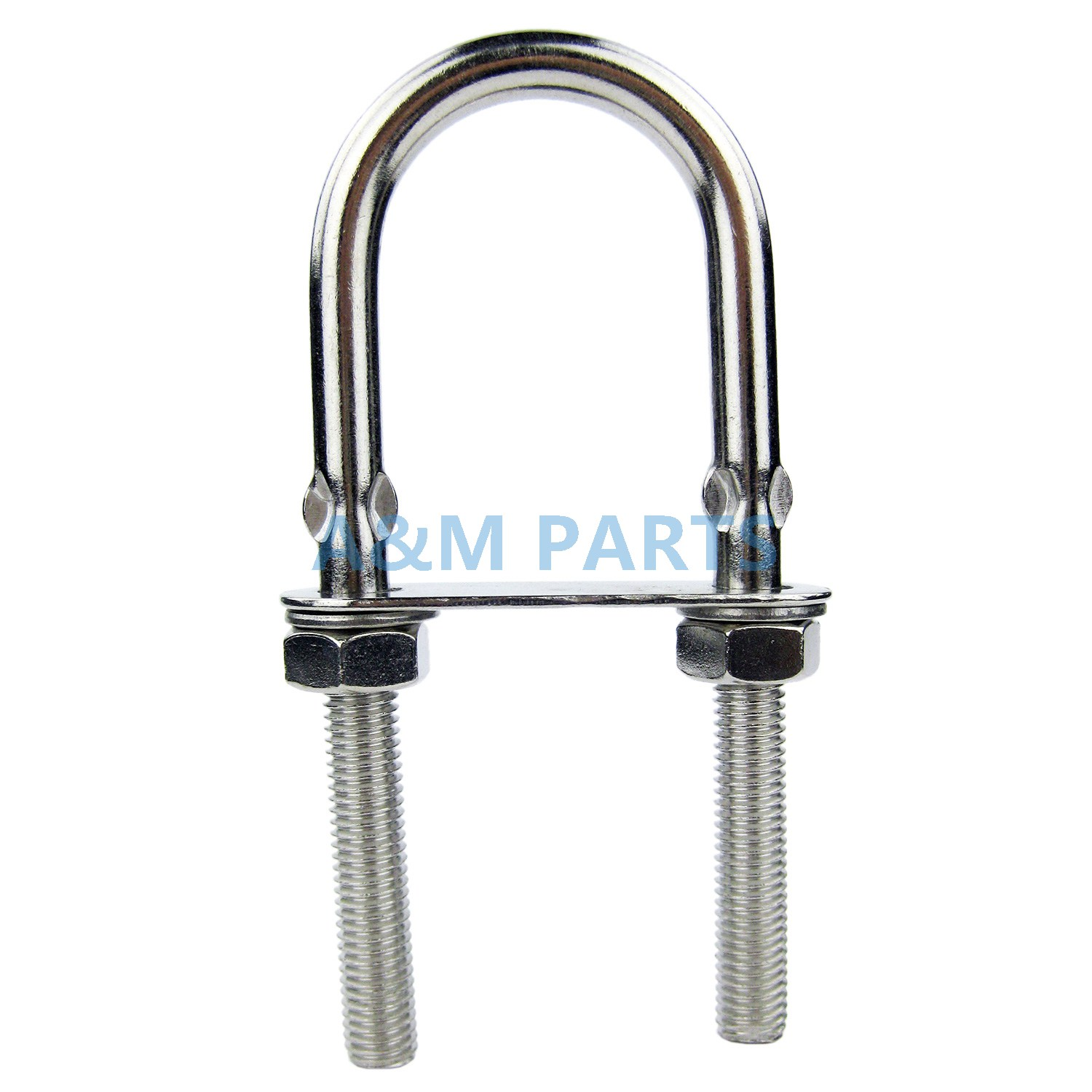 M10 Marine Stainless U Bolt + Plate + Nuts Bow / Stern Eye 10mm * 130mm (3/8)