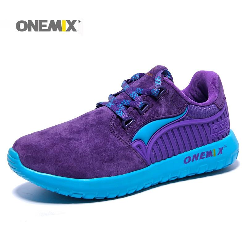 Onemix оригинальное качество меха, кроссовки для Для женщин противоскользящие Run новый женский Прогулки Кроссовки Racer бег Для женщин кроссовки