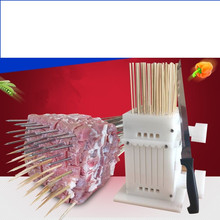 Food Grade Beef Mutton String Device Automatic Stringing Machine Barbecue Skewer Artifact For BBQ Making Machine Kebab factory price beef mutton chicken chicken heart manual doner kebab meat skewer maker meat string machine