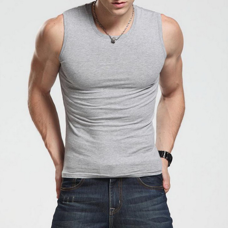 2019 Men Tank Top Solid Singlet Bodybuilding Gym Clothes Running Vest Sleeveless Workout Fitness quality Male T Shirt