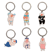 """YIZISTORE novel original designed key ring in """"The emperor's new clothes"""" series 4 in 6styles (FUN KIK)"""