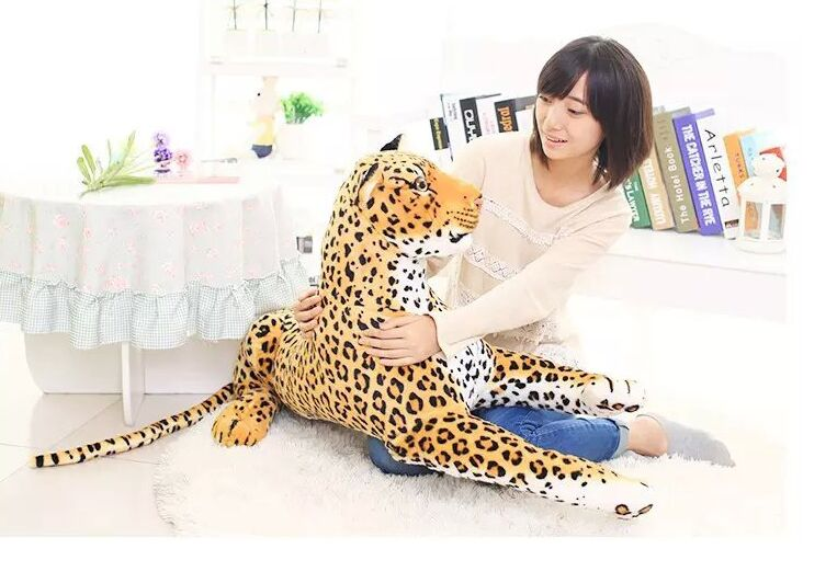 simulation animal 105cm prone leopard plush toy simulation leopard doll throw pillow birthday gift b0797 large 90cm cartoon pink prone pig plush toy very soft doll throw pillow birthday gift b2097