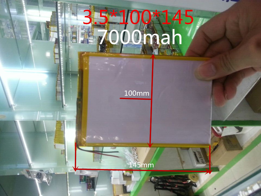 3.7v 7000mah (polymer Lithium Ion Battery) Li-ion Battery For Tablet Pc 9.7 Inch 10.1 Inch Speaker [3.5*100*145] Free Shipping